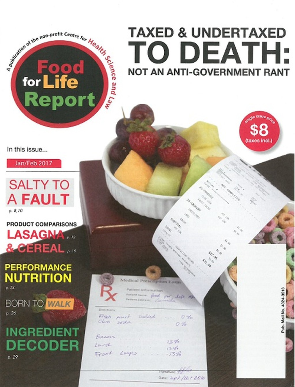 Food for Life Report magazine cover