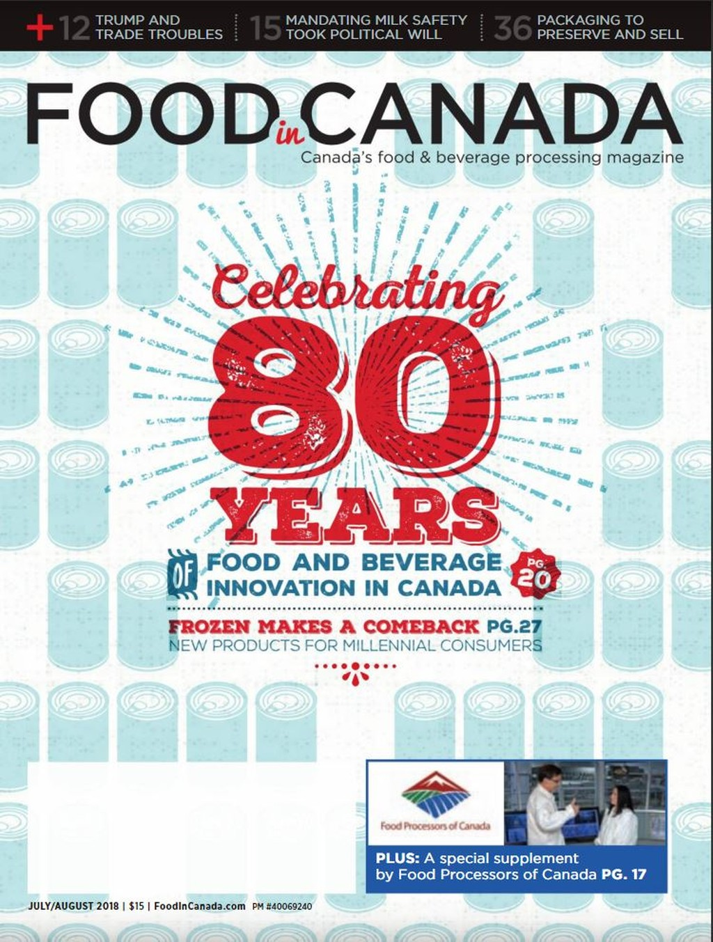 Cover of Food in Canada magazine