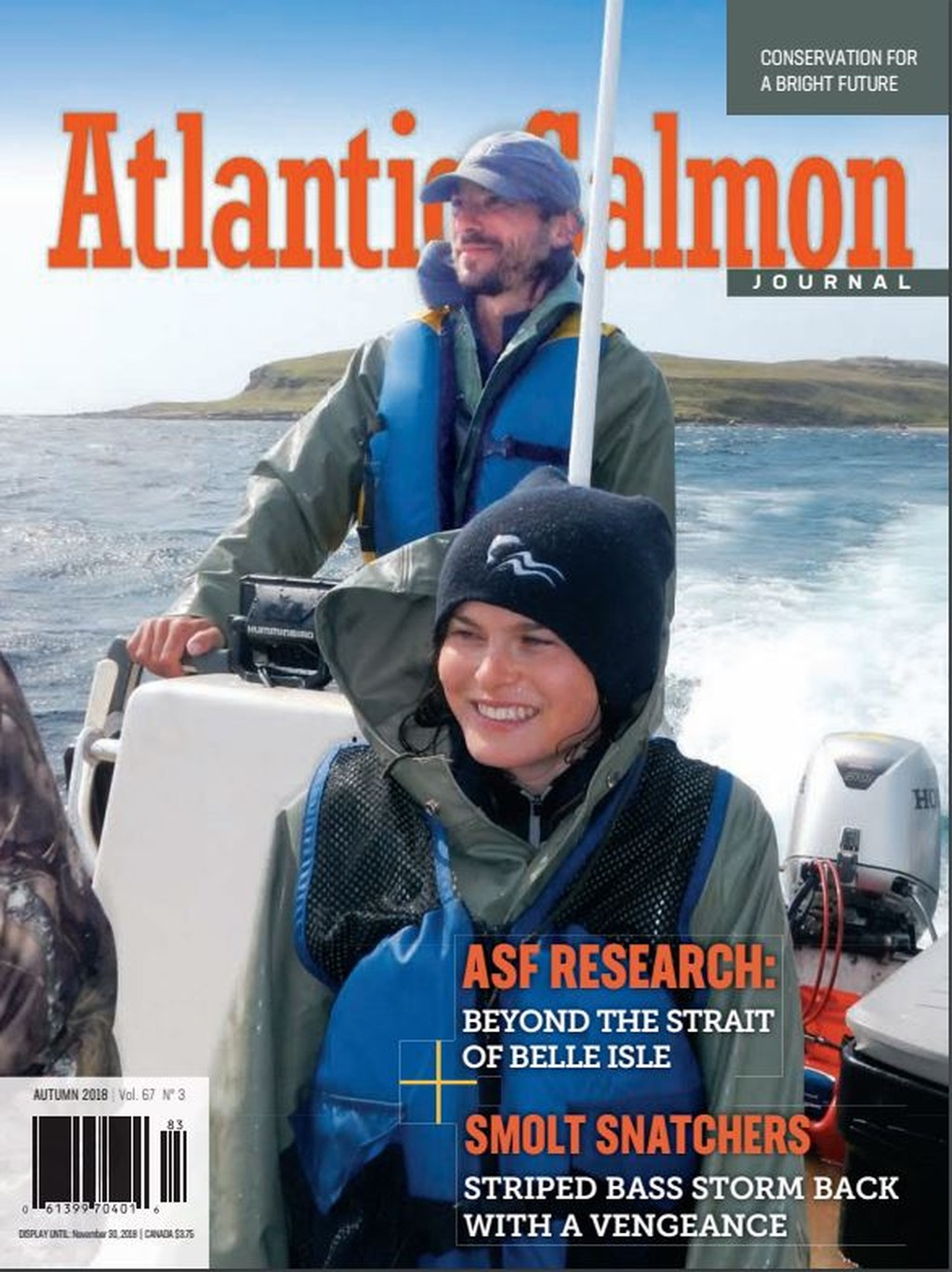 Cover of Atlantic Salmon Journal, Autumn 2018 issue