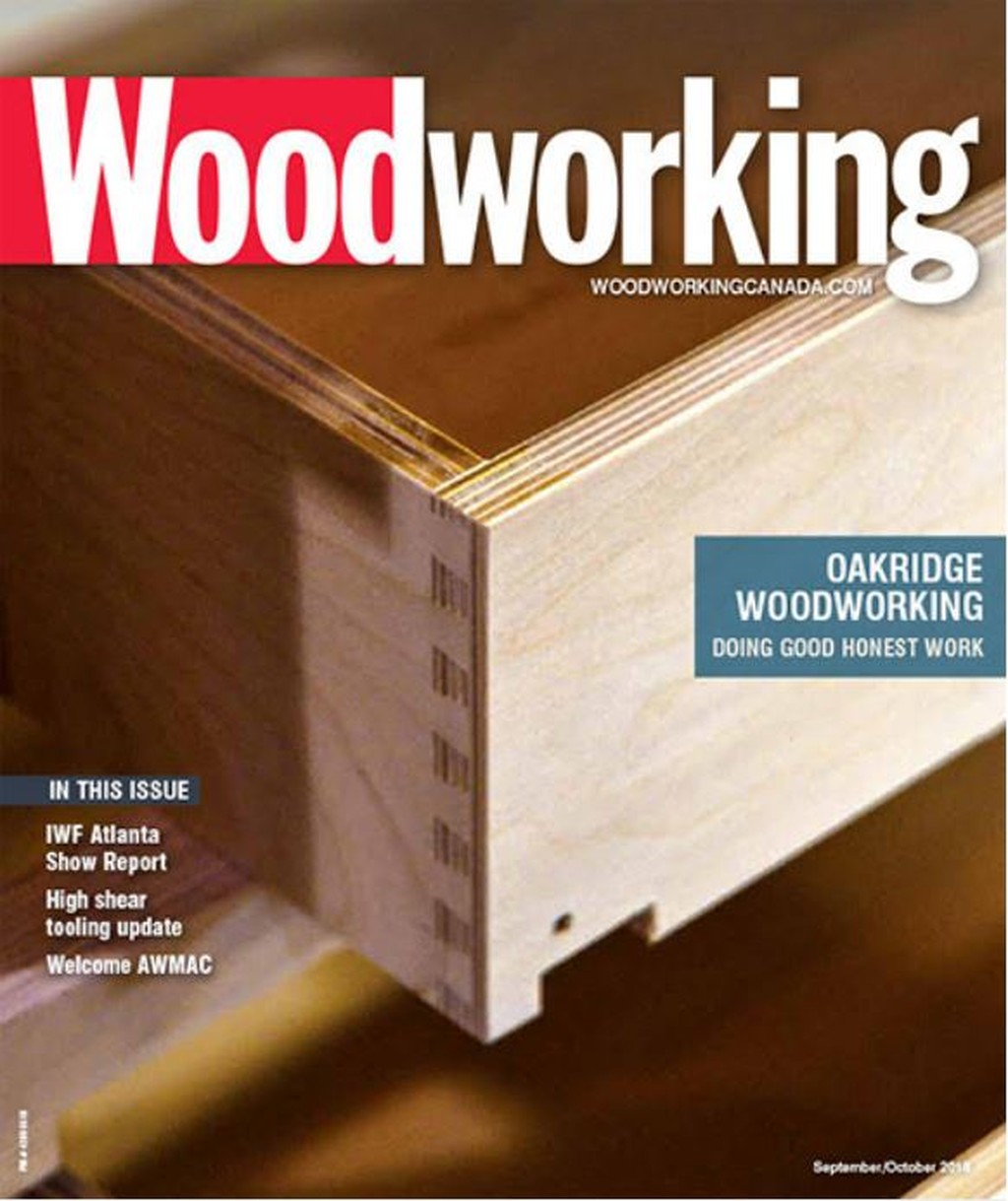 Cover of Woodworking magazine, September/October 2018
