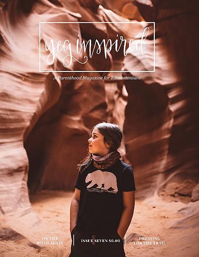 Cover of YEG Inspired magazine.